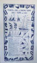 Points Of Sail Sailing Terms Galley Cloth / Tea Towel